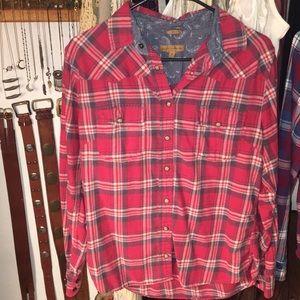 Jachs girlfriend flannel plaid shirt